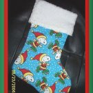 Peanuts Snoopy as Santa and Chenille Handmade Christmas Stocking FREE US AND CANADA SHIPPING