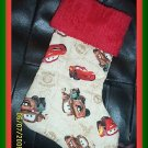 Disney Pixar Cars Lightening McQueen Handmade Christmas Stocking FREE US & CANADA SHIPPING