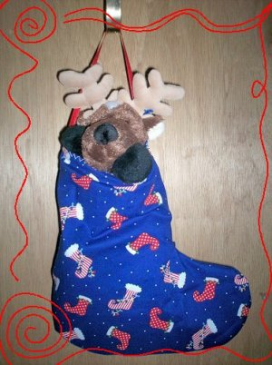 Custom Christmas Stocking Sack for Webkinz Lil'Kinz #2 FREE US AND CANADA SHIPPING