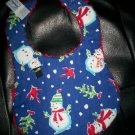 Handmade Baby Bib ~ Cardinals & Christmas Trees FREE US AND CANADA SHIPPING