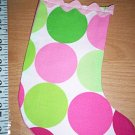 Handmade Christmas Stocking Ornament #258 Disco Dot FREE US AND CANADA SHIPPING