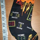 Handmade Christmas Stocking Ornament #213 Basketball FREE US AND CANADA SHIPPING