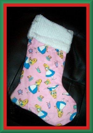 Handmade Christmas Stocking ~ Alice in Wonderland FREE US AND CANADA SHIPPING