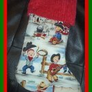 Handmade Christmas Stocking Michael Miller Lil Cowpokes FREE US AND CANADA SHIPPING