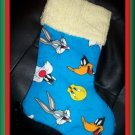 CSTM Christmas Stocking ~ Bugs Bunny Tweety Sylvester FREE US AND CANADA SHIPPING