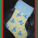 Handmade Christmas Stocking ~ Yellow Blue's Clues FREE US AND CANADA SHIPPING