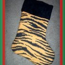 Handmade Christmas Stocking ~ Wild Animal Tiger FREE US AND CANADA SHIPPING