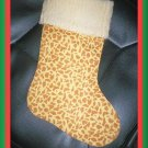 Handmade Christmas Stocking ~ Wild Animal Baby Giraffe FREE US AND CANADA SHIPPING
