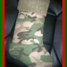 Handmade Christmas Stocking ~ Sand Camo Camouflage FREE US AND CANADA SHIPPING
