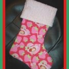 Handmade Christmas Stocking ~ Red Strawberry Shortcake FREE US AND CANADA SHIPPING