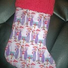 Handmade Christmas Stocking ~ Red Hat Society - Ladies FREE US AND CANADA SHIPPING
