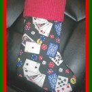 Handmade Christmas Stocking ~ Poker Texas Hold 'Em Card FREE US AND CANADA SHIPPING