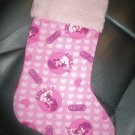 Handmade Christmas Stocking ~ Pink High School Musical FREE US AND CANADA SHIPPING