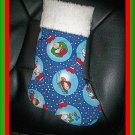Handmade Christmas Stocking ~ Peanuts Charlie Brown FREE US AND CANADA SHIPPING