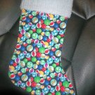 Handmade Christmas Stocking ~ Marbles Aggies Shooters FREE US AND CANADA SHIPPING