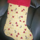 Handmade Christmas Stocking ~ Ladybugs and Gingham FREE US AND CANADA SHIPPING