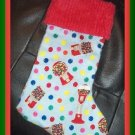 Handmade Christmas Stocking ~ Gumball  Machine FREE US AND CANADA SHIPPING