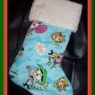 Handmade Christmas Stocking ~ Fairly Oddparents FREE US AND CANADA SHIPPING
