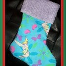 Handmade Christmas Stocking ~ Disney Tinkerbell Fairy A  FREE US AND CANADA SHIPPING