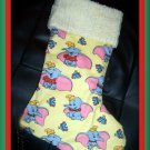 Handmade Christmas Stocking ~ Disney Dumbo the Elephant FREE US AND CANADA SHIPPING