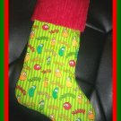 Handmade Christmas Stocking ~ Christian Veggie Tales FREE US AND CANADA SHIPPING
