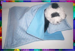 Cust. Sleeping Bag & Pillow 4 Webkinz Lil'Kinz ~ Blue FREE US AND CANADA SHIPPING