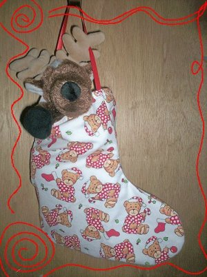 Custom Christmas Stocking Sack for Webkinz Lil'Kinz #7 FREE US AND CANADA SHIPPING
