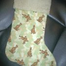 Handmade Christmas Stocking ~ Camouflage Scooby Doo FREE US AND CANADA SHIPPING