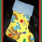Handmade Christmas Stocking ~ Blue's Clues Travels FREE US AND CANADA SHIPPING