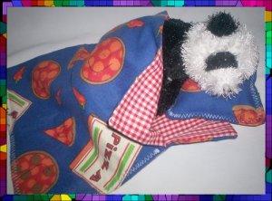 Cust. Sleeping Bag & Pillow 4 Webkinz Lil'Kinz ~ Pizza
