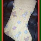 Handmade Christmas Stocking ~ Yellow Precious Moments