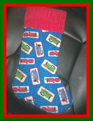 Handmade Christmas Stocking ~ Thomas the Tank Engine 4 FREE US AND CANADA SHIPPING