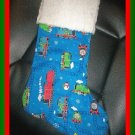 Handmade Christmas Stocking ~ Thomas the Tank Engine 3 FREE US AND CANADA SHIPPING