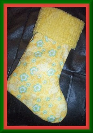 Handmade Christmas Stocking ~ Sesame Street Big Bird FREE US AND CANADA SHIPPING