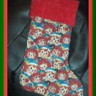 Handmade Christmas Stocking ~ Raggedy Ann & Andy Faces