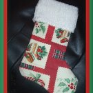 Handmade Christmas Stocking ~ Holiday Bows & Holly BCMM