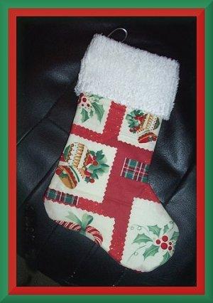 Handmade Christmas Stocking ~ Holiday Bows & Holly BCMM