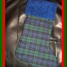 Handmade Christmas Stocking ~ Daddys Black & Blue Plaid