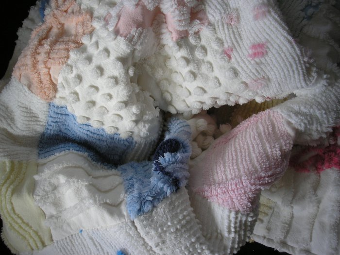 Vintage Chenille Custom Baby Quilt