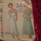 Misses Womens Slip Petticoat Camisole Simplicity Pattern 2643 Size 14 Vintage Slips