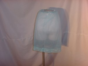 Slip Transparent Vintage Ocean Blue Slip Double layer Vintage Slip Flowers