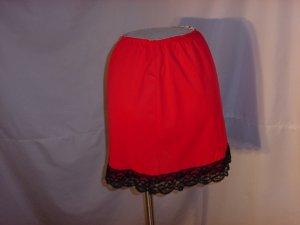 Mini slip vintage 1960s mini slip Red Black  (S L A)