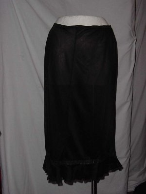 Black Vintage Vanity Fair Needs Care Half slip pleat hem Flaw  S L A 2