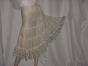 Colony Club can can crinoline half slip vintage slip Applique flowers greenery No. 137