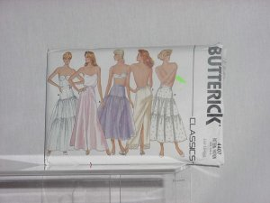 Butterick Slip Pattern 4407 Uncut Pattern Misses slips Petticoat flared straight half slip No. 148