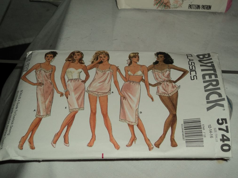 Butterick Slip Pattern 5740 Uncut Pattern Misses slips 12-14-16 No. 183. 148