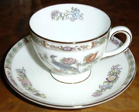 Fine China KUTANI CRANE Cup & Saucer by Wedgwood