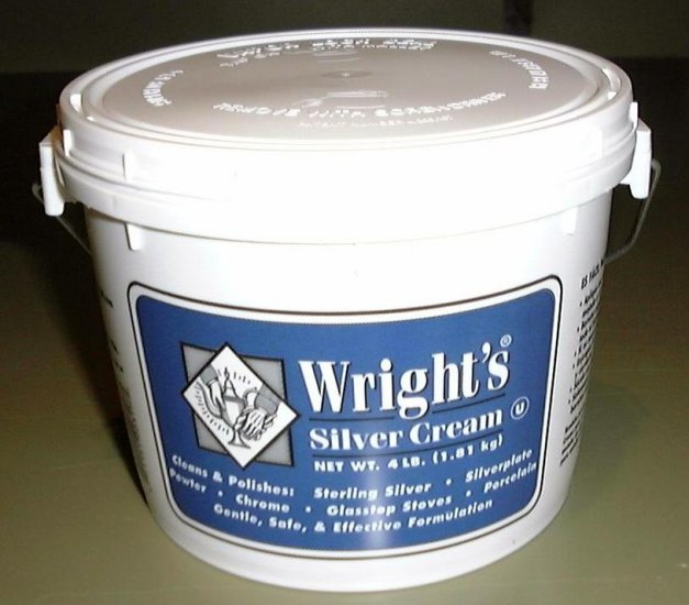 The Best Silver Polish 4 lb WRIGHT'S Silver Cream 8  8 oz