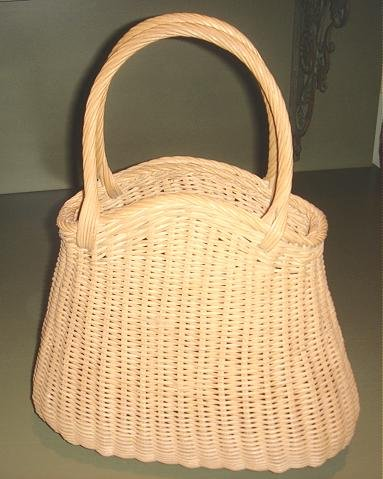NEAT, UNUSUAL VINTAGE WICKER BASKET