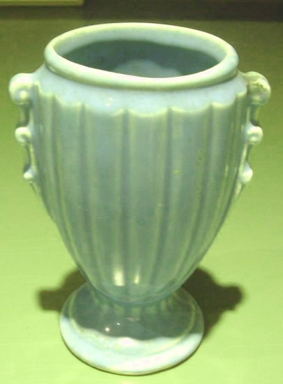 Teal Blue Pottery Pot or Vase Made by USA